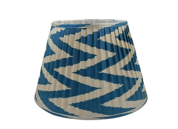 45cm Midnight Blue Silk Pleated Lampshade