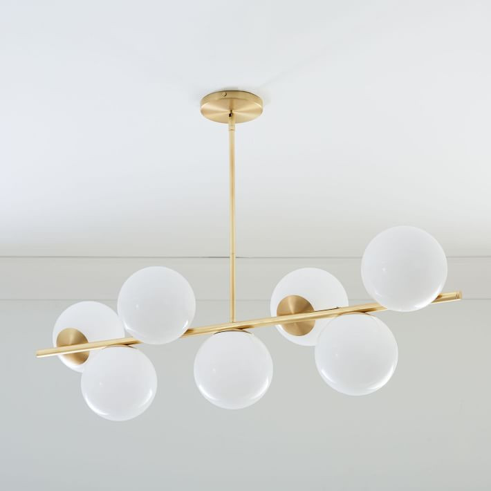 West Elm Sphere Stem 7 Light Chandelier