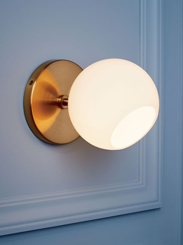 West Elm Staggered Glass Sconce Single