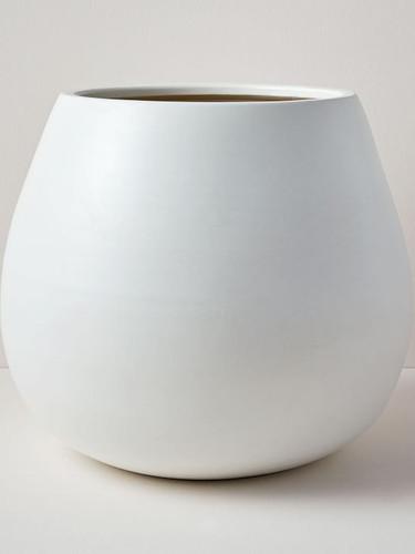 West Elm Pure White Ceramic Planters