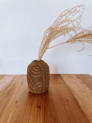 Vintage Carved Terracotta Vase