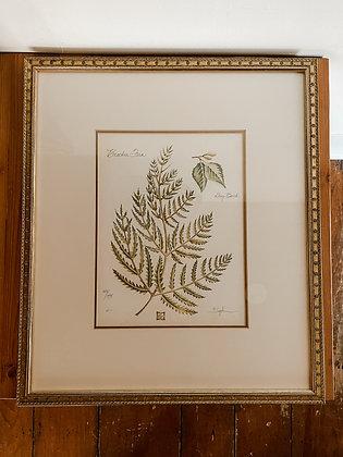 Vintage Leaf Painting 1