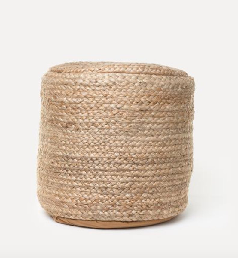 Shoppe Amber Interiors Braided Hemp Pouf