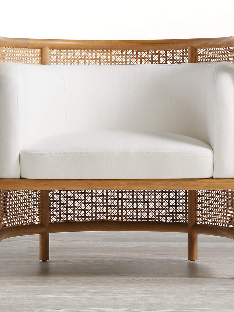 Fields Cane Back Accent Chair