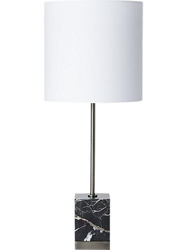 CB2 Sharp Black Marble Table Lamp