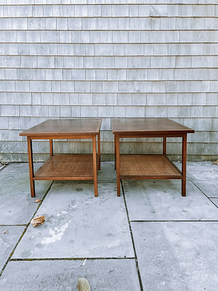 Set of 2 Lane Rattan Furniture Accent Tables