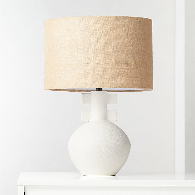 Domani Textured White Table Lamp.jpeg