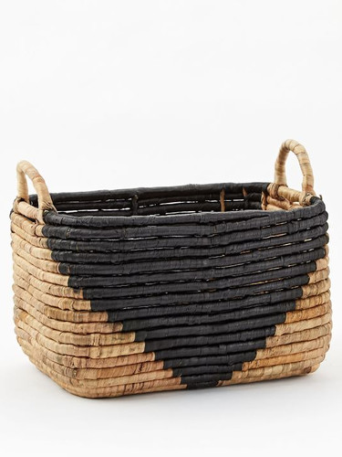 West Elm Two-Toned Seagrass Baskets