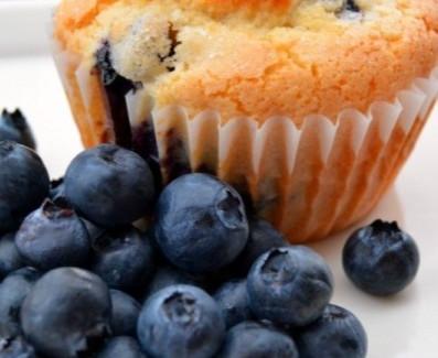 Vegan, Gluten and Dairy Free Blueberry Muffins