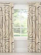 Linen Grafitto Curtain Panel