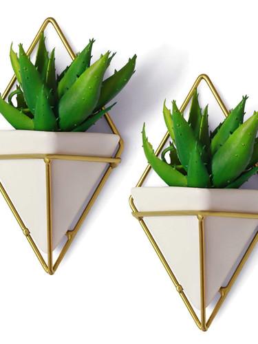 California Home Goods Modern Hanging Planter Pots (2-Pack)