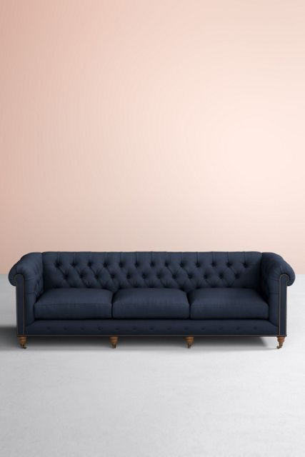 Anthropologie Lyre Chesterfield Sofa