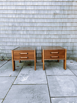 Set of 2 Lane Mid Century Modern Furniture Nightstands