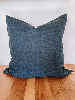 Vintage Navy Wool Pillow