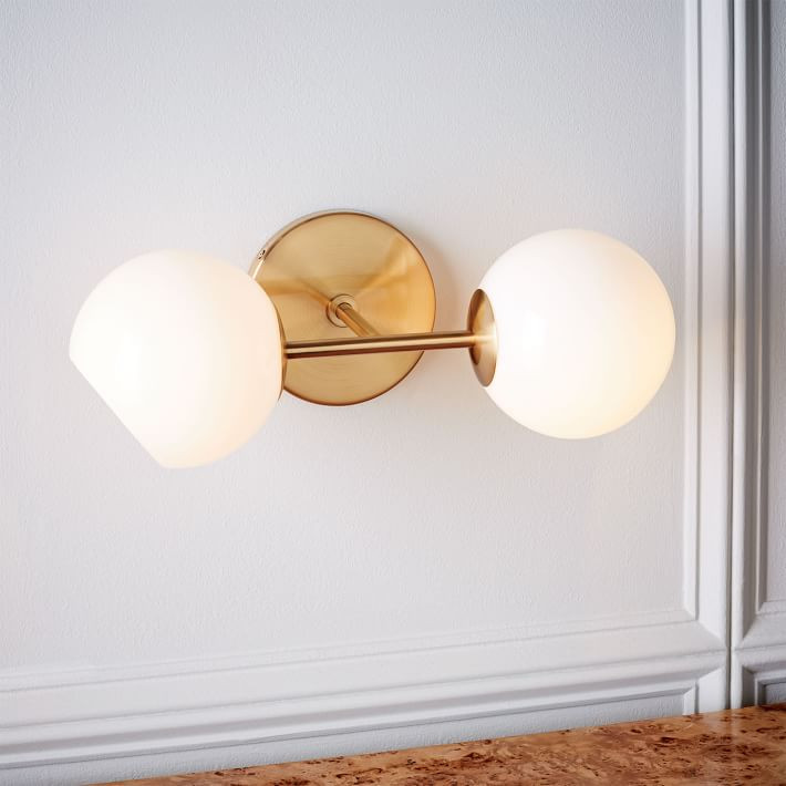 West Elm Staggered Glass Sconce Double