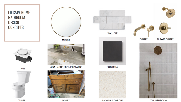 LD CAPE HOME REVEAL! Our Master Bathroom Design Details! Part 1