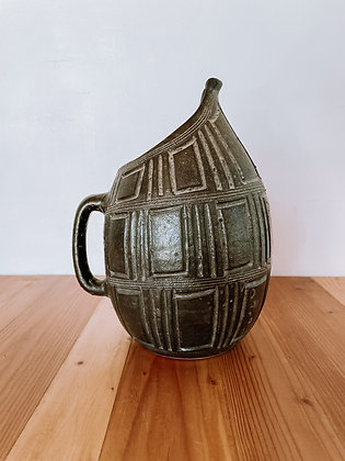 Vintage Carved Pitcher
