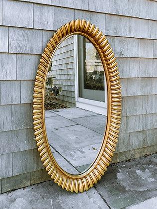 Vintage Brass Gilded Mirror