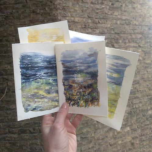 Sea views postcards