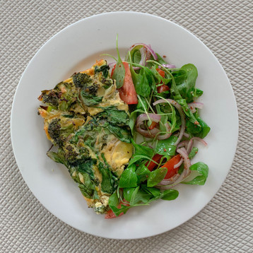 Vegetable Frittata with Salad