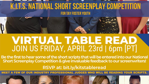 Virtual Table Read for KITS 5-week Screenwriting Course for Transitional Age Foster Youth
