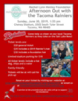 Night Out with the Rainiers Flier June 2