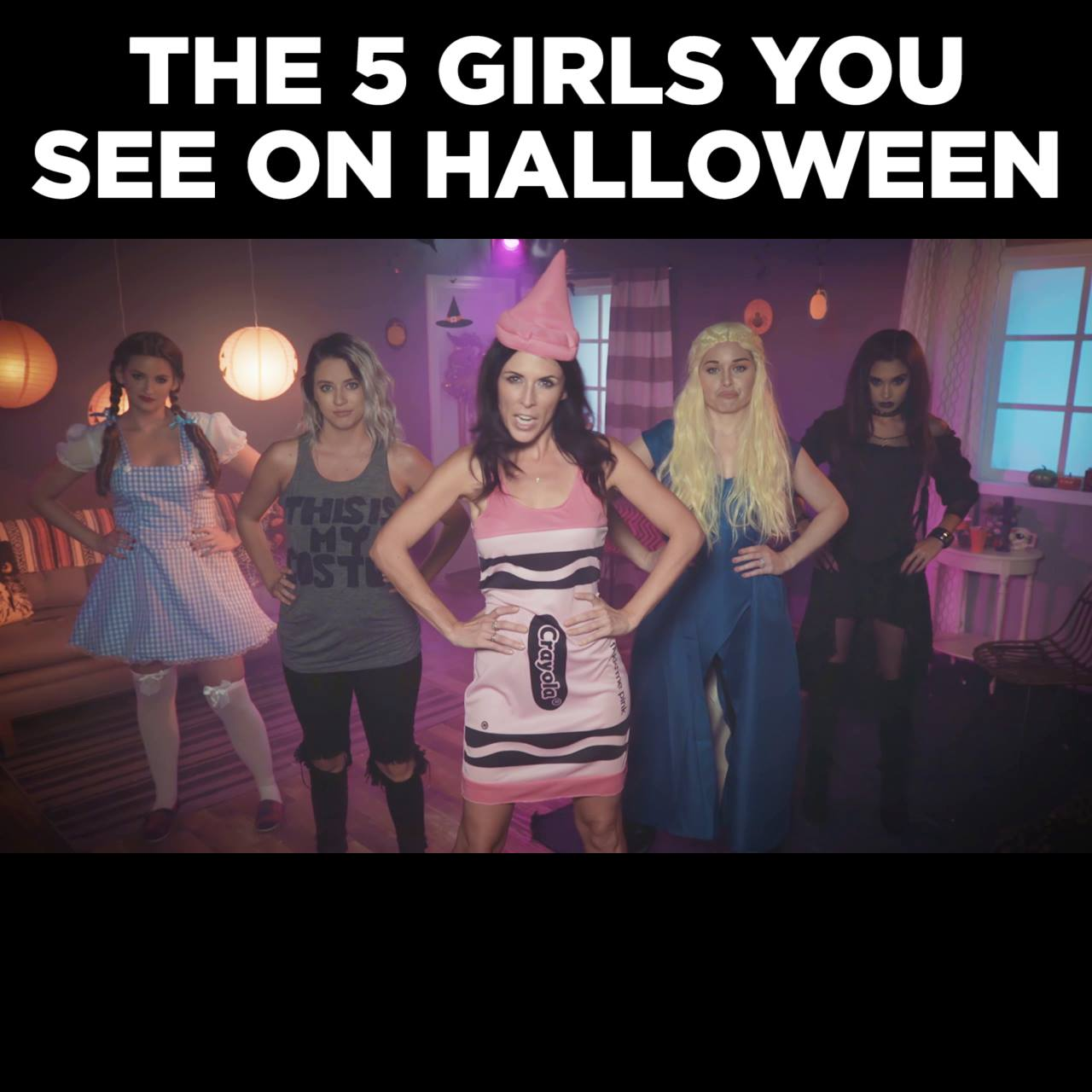 5 Types of Girls on Halloween