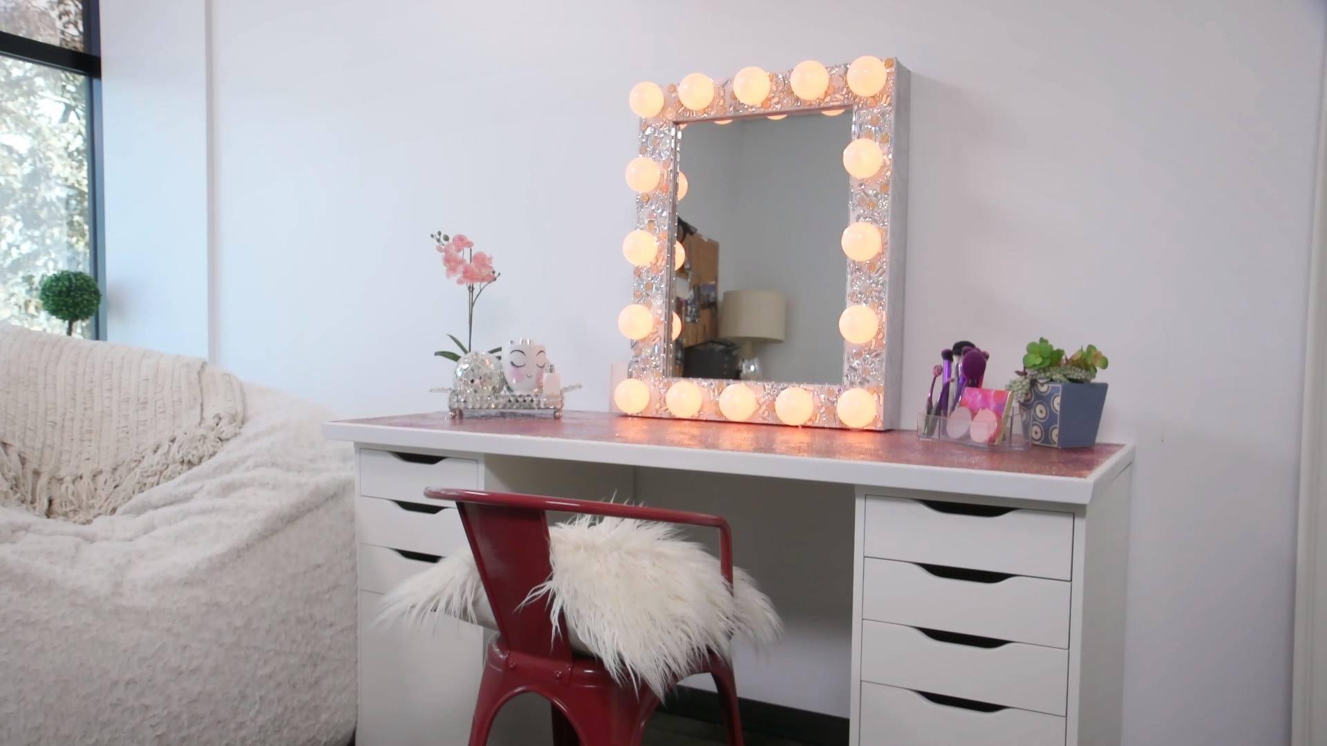 Glitter Makeup Vanity Transformation