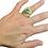 Thumbnail: Bague tourbillon 2 en laiton avec sa Lapis Lazulli