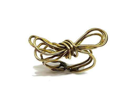 Bague noeud lacets