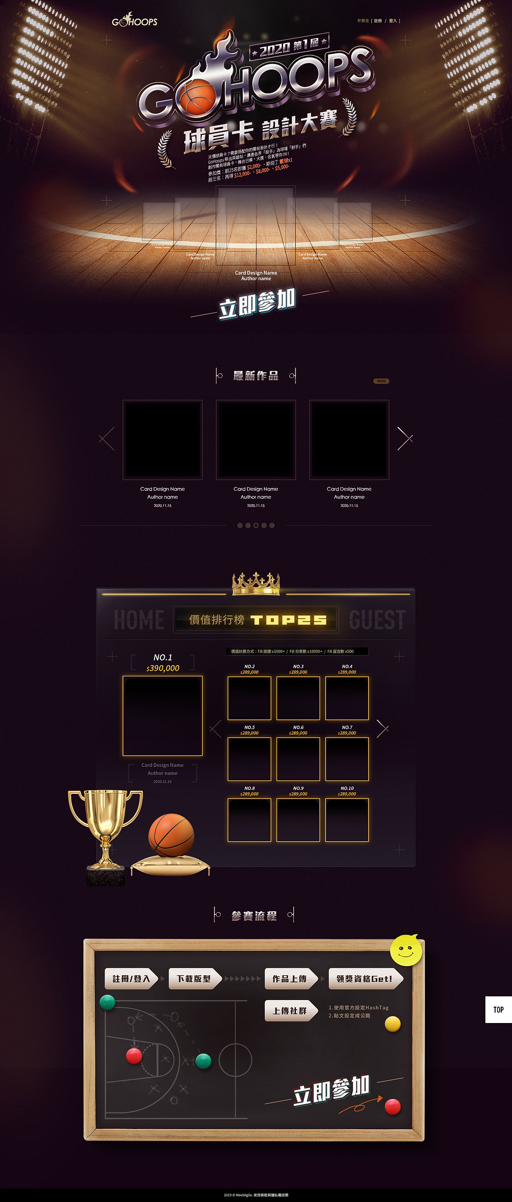 GoHoops 球員卡設計大賽視覺設計