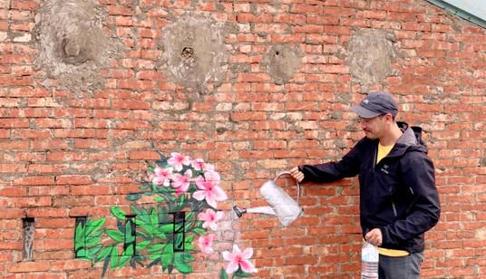 萬金杜鵑塗鴉牆