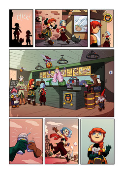 Red and Blue graphic novel, page 4
