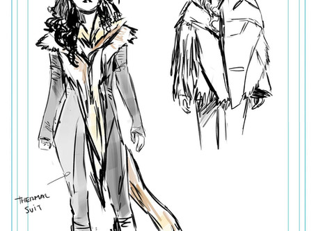 Carmen Carnero's designs for Captain Marvel: The End, with comments by writer Kelly Thompson!