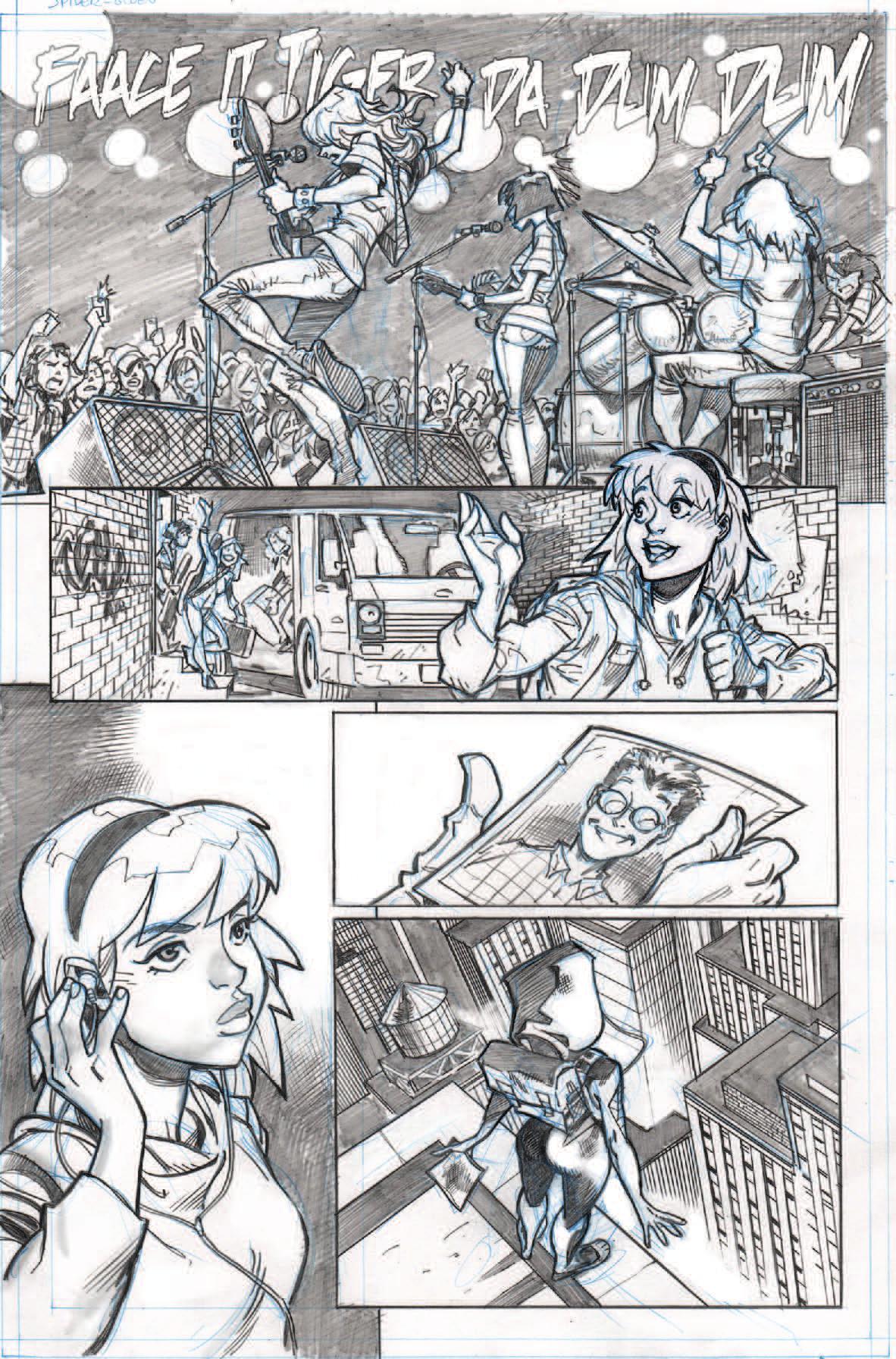 Spider-Gwen samples, page 1