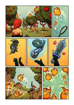 Red and Blue graphic novel, page 5