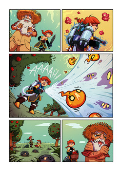 Red and Blue graphic novel, page 6