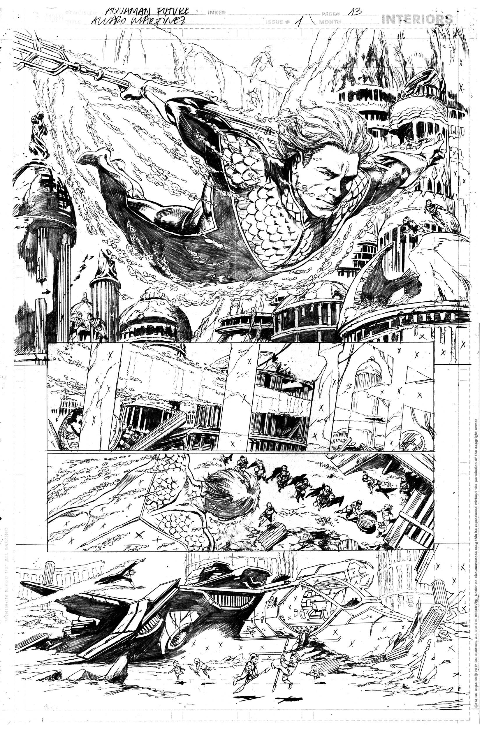 Secret Origins #2, Aquaman, page 13
