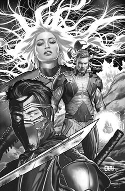Ninjak vs The Valiant Universe #4, cover