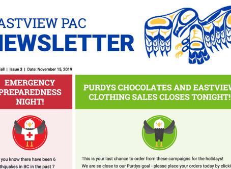 Newsletter - November 15th