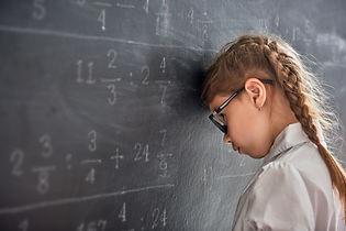 Tough day at school! Sad child near the