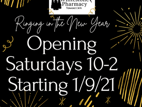 Ringing in 2021 with Saturday Hours!
