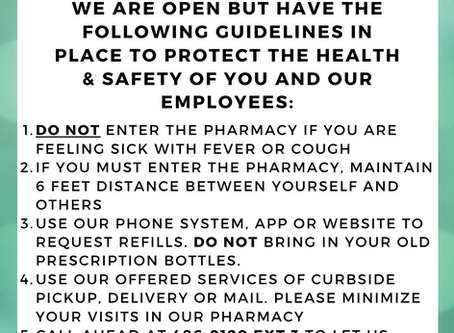 Pharmacy Guidelines: COVID-19