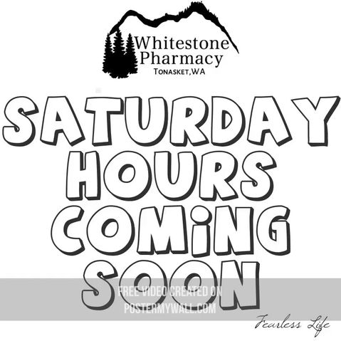 Saturday Hours starting soon!