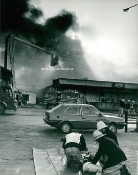 Bowes Abbatoir Fire in Watton