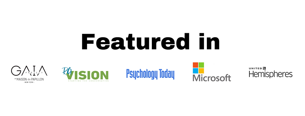 Featured in Project Gaia, RGVision, Psychology Today, Microsoft, Hemispheres Magazine