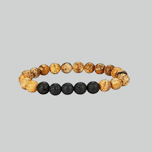 Men's Lava Rock Healing Stone Bracelet