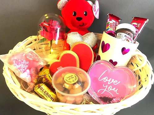 Basket with a Love Bear