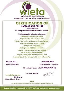 WIETA Radford Dale Pty Ltd_eCopy of cert