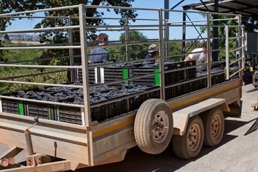 offloading the trailer